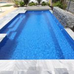 """Bellino"" Fiberglass Swimming Pool (pictured as backyard pool)"