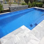 """Castello"" Fiberglass Swimming Pool, pictured as backyard pool"