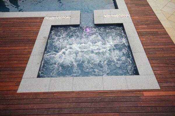 """Cove"" Fiberglass Swimming Pool Spa (pictured as backyard pool spa)"
