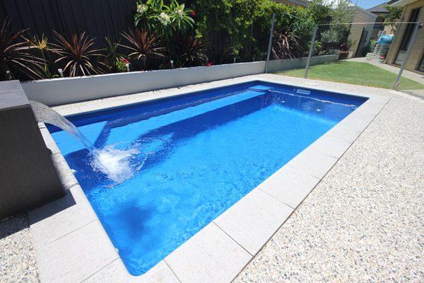 """Verona"" Small Fiberglass Swimming Pool, designed and built by Aqua Technics Pools"
