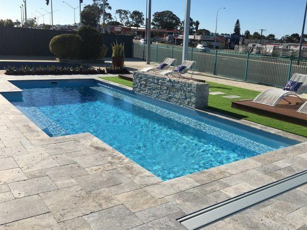 """Amalfi"" Fiberglass Swimming Pool (medium pool design) (backyard pool)"