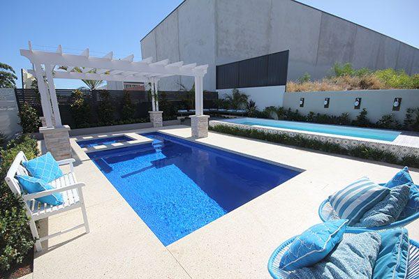 """""""Saint Louis"""" Fiberglass Swimming Pool (Large Pool), designed and built by Aqua Technics Pools   Pool Technology Experts"""